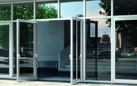 Aluminium Doors Cube Glass